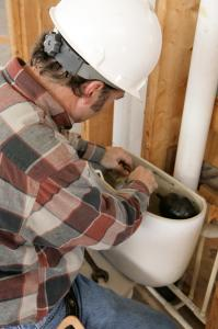 A Glendale AZ Plumbing Contractor Repairs a Bad Toilet Float